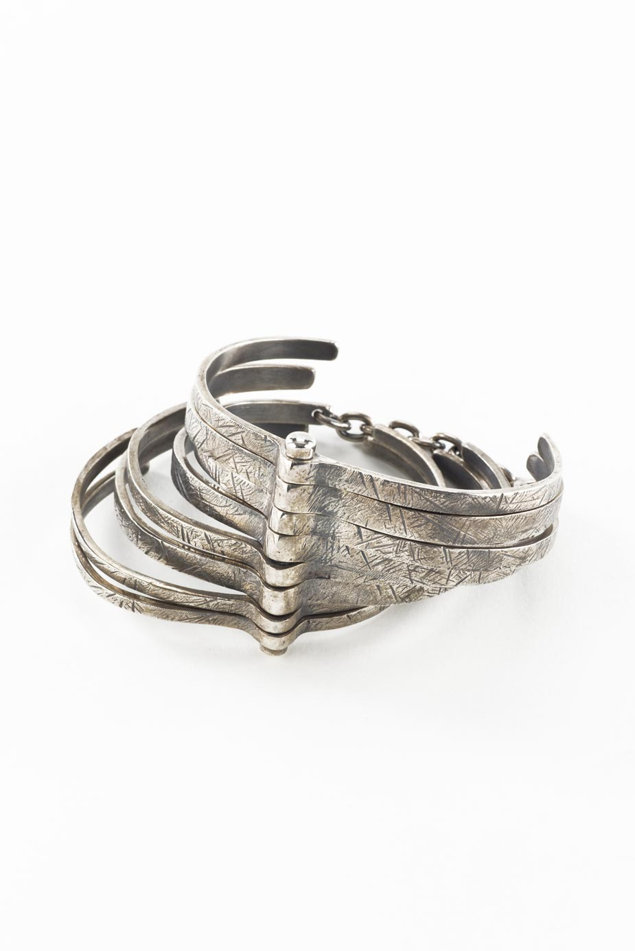 Armband Silber Rippen
