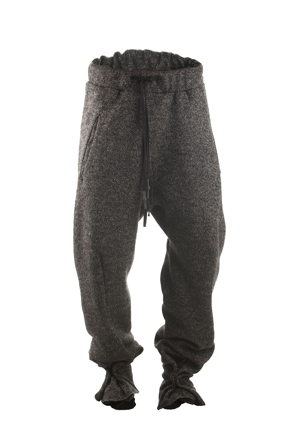 Hose Braun Grau Low Crotch